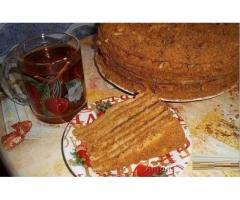 Домашние торты Наполеон. Рыжик