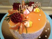 Муссовый торт (евроторт) 1кг/1,5кг/2 кг в гляссаже