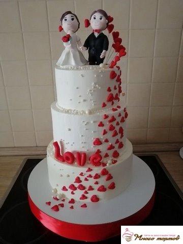 Заказать торт на день свадьбы