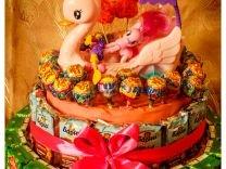 Торт из Барни, сока, конфет для мальчика, девочки
