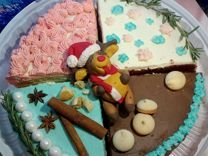 Торт из четвертинок на новогодний стол