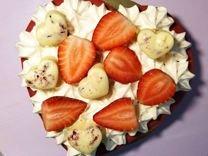 Торт-сердце, зефирный торт,торты,зефир