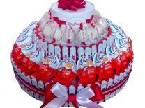 Киндер торт, букет, корзина