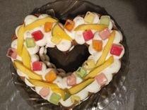 Торт сердце ко Дню св.Валентина на заказ
