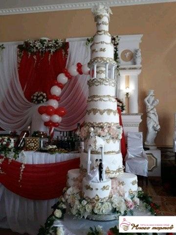 Заказать торт на золотую свадьбу