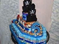 Торт корабль, Угощение в детский сад