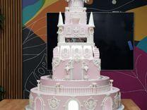 Свадебный торт. Торт замок. Детский торт замок